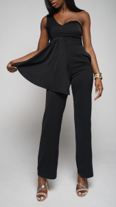 Asymmetric One-Shoulder Jumpsuit